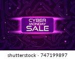 sale technology banner for... | Shutterstock .eps vector #747199897