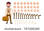 cartoon man constructor... | Shutterstock . vector #747200185