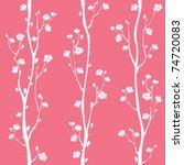 Oriental Plum Blossom Seamless...