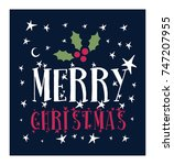 merry christmas vector text... | Shutterstock .eps vector #747207955