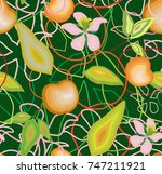 Seamless Pattern Of Apples ...