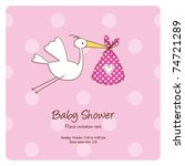 baby announcement card | Shutterstock .eps vector #74721289