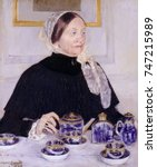 Lady At The Tea Table  By Mary...
