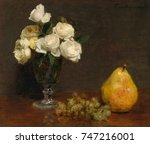 Still Life With Roses And Fruit ...