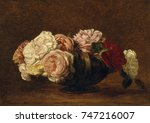 Roses In A Bowl  By Henri...