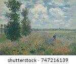 poppy fields near argenteuil ... | Shutterstock . vector #747216139