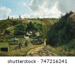 jalais hill  pontoise  by... | Shutterstock . vector #747216241