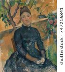 madame cezanne  by paul cezanne ... | Shutterstock . vector #747216841
