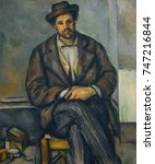 Seated Peasant  By Paul Cezanne ...