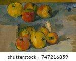 apples  by paul cezanne  1878... | Shutterstock . vector #747216859
