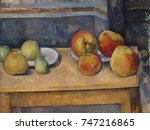 still life with apples and... | Shutterstock . vector #747216865
