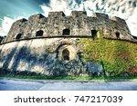 italy  verona  old fortress... | Shutterstock . vector #747217039