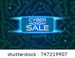 sale technology banner for... | Shutterstock .eps vector #747219907