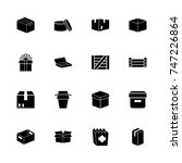box and crates icons   expand... | Shutterstock .eps vector #747226864
