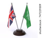 table flags  great britain and... | Shutterstock . vector #747229309