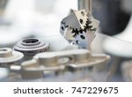 object printed on metal 3d... | Shutterstock . vector #747229675