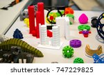 many abstract models bright... | Shutterstock . vector #747229825