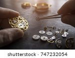 the process of repair of... | Shutterstock . vector #747232054