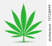 cannabis plant icon with shadow ... | Shutterstock .eps vector #747238999