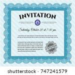 light blue formal invitation.
