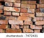 old bricks   Shutterstock . vector #7472431