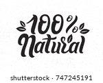 vector illustration of 100 ... | Shutterstock .eps vector #747245191