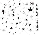 handdrawn stars background....   Shutterstock .eps vector #747252565