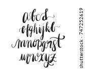 handdrawn calligraphic font.... | Shutterstock .eps vector #747252619