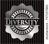 diversity silvery emblem | Shutterstock .eps vector #747257881