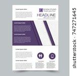 purple vector flyer template.... | Shutterstock .eps vector #747271645