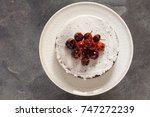 chocolate cake with caramelized ... | Shutterstock . vector #747272239