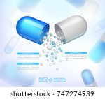 capsules info graphic.... | Shutterstock .eps vector #747274939