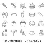 set of street food related... | Shutterstock .eps vector #747276571