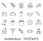 set of street food related... | Shutterstock .eps vector #747276571