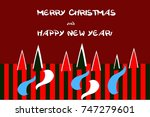 greeting card happy new year.... | Shutterstock .eps vector #747279601