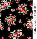 flowers pattern..for textile ... | Shutterstock . vector #747280327
