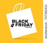 black friday super sale... | Shutterstock .eps vector #747282421