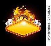 golden vector casino neon...   Shutterstock .eps vector #74728261