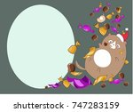 new year card kitty sweets | Shutterstock .eps vector #747283159