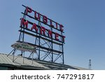 Sign Of Public Market In...