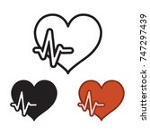 cardiology icon  heart rate... | Shutterstock .eps vector #747297439