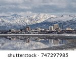 anchorage reflections | Shutterstock . vector #747297985