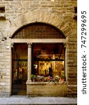 medieval city detail  a window...   Shutterstock . vector #747299695