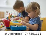 education and play in... | Shutterstock . vector #747301111