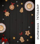 merry christmas. card.... | Shutterstock .eps vector #747316369