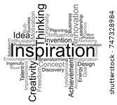 inspiration word cloud  vector | Shutterstock .eps vector #747328984