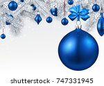 new year background with spruce ... | Shutterstock .eps vector #747331945
