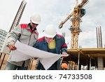 two engineer builders with...   Shutterstock . vector #74733508