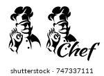 vector monochrome illustration... | Shutterstock .eps vector #747337111