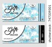 gift voucher. vector ...   Shutterstock .eps vector #747339301
